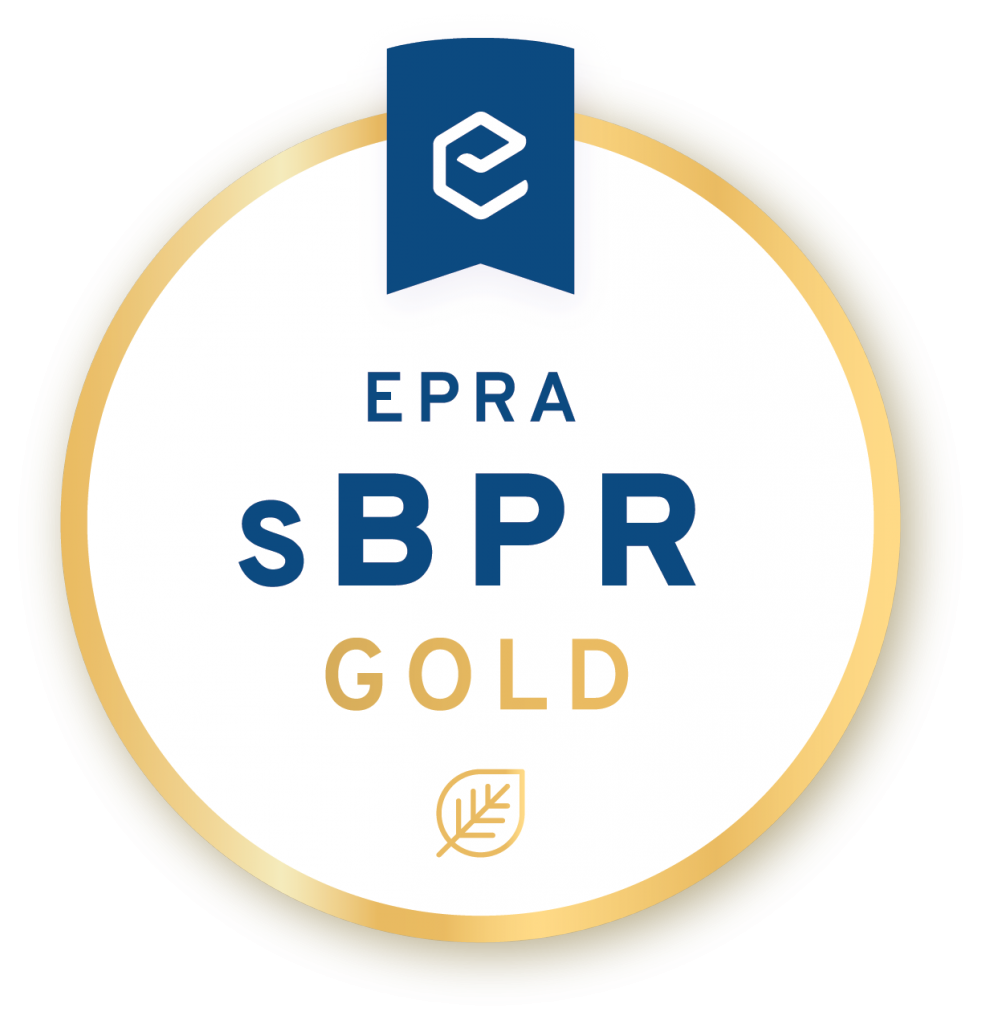 The Sustainability Report awarded with the EPRA sBPR Gold Award