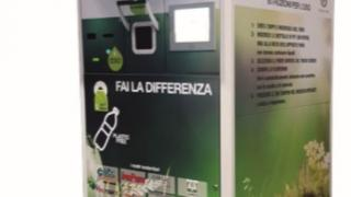 Inaugurato sabato 6 aprile al centro commerciale Puntadiferro di Forlì un sistema di raccolta e compattazione dei rifiuti in plastica