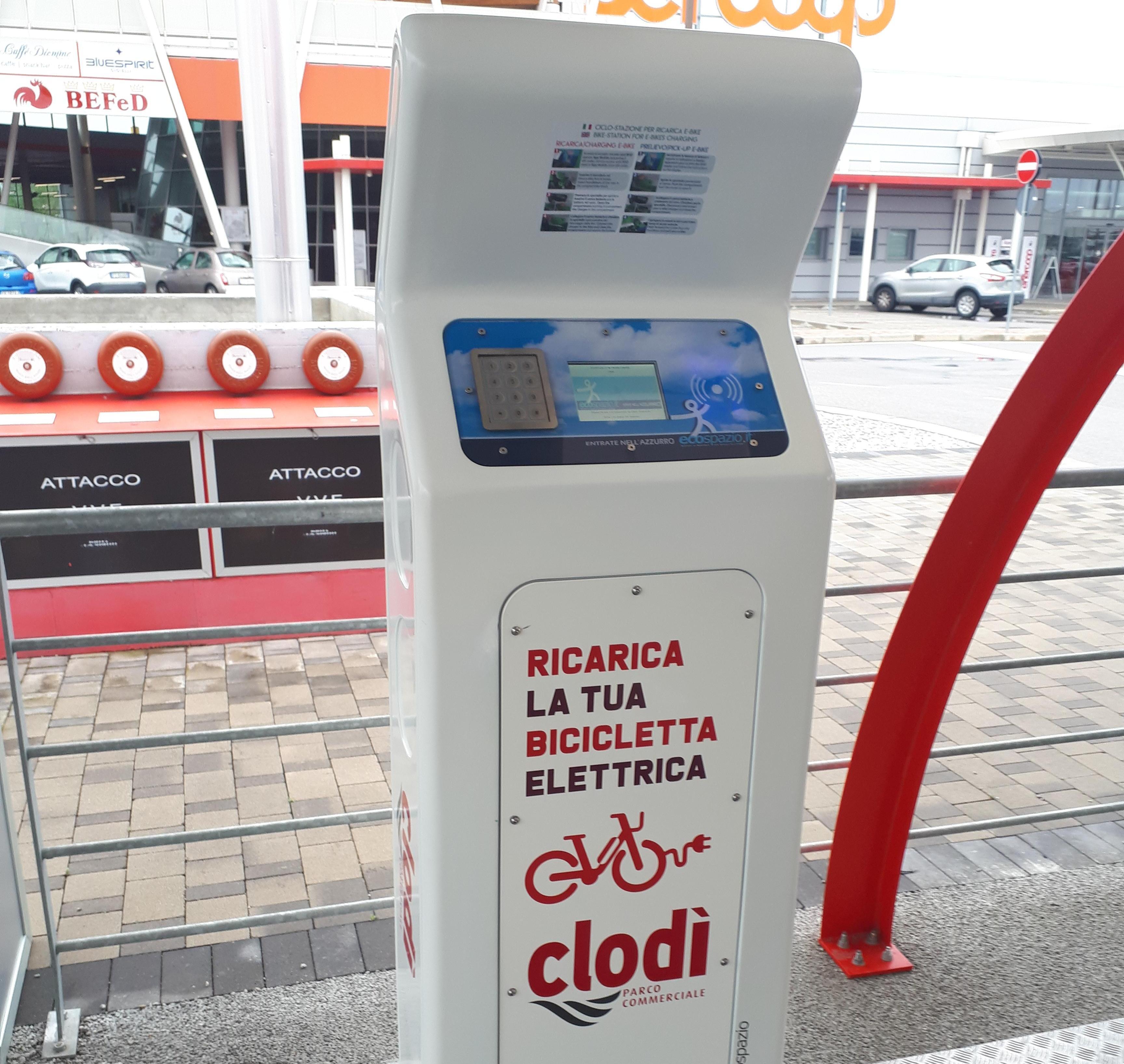 Clodì colonnine ricarica bici elettriche